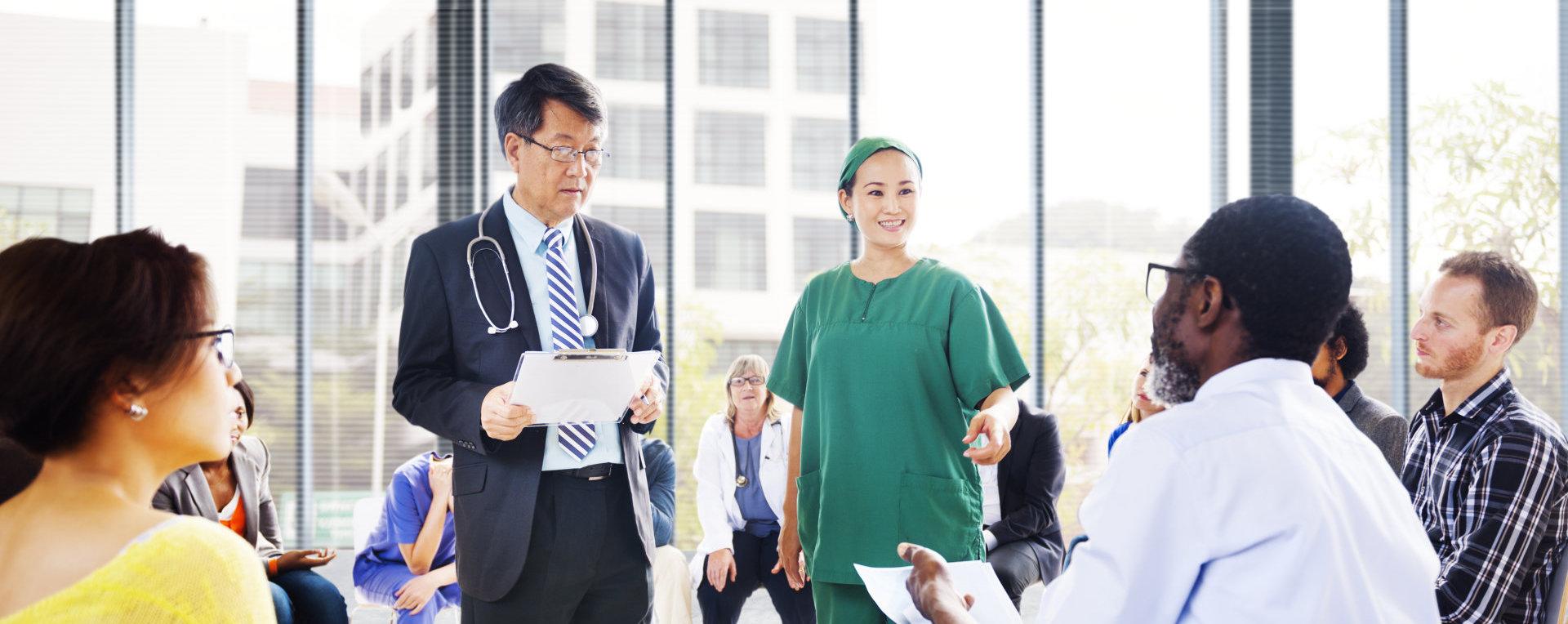 medical doctors having a meeting