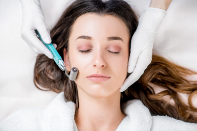 young woman on a derma